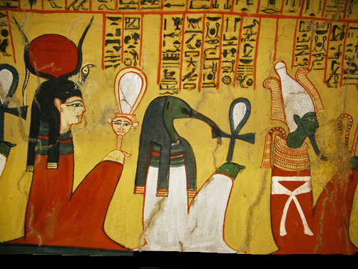 Tomb of Pashedu, showing a procession of Gods-West-Bank-at-Luxor-(ancient-Thebes)