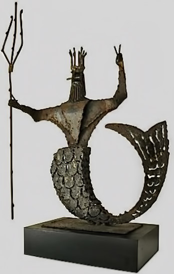 1960's-Brutalist-Poseidon-Sculpture-in bronze