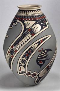 Mata Ortiz Pottery By Lazaro Ozuna Silveira Sgraffito Olla