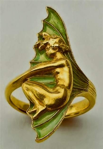 Art Nouveau gold ring-by-Rene-Lalique