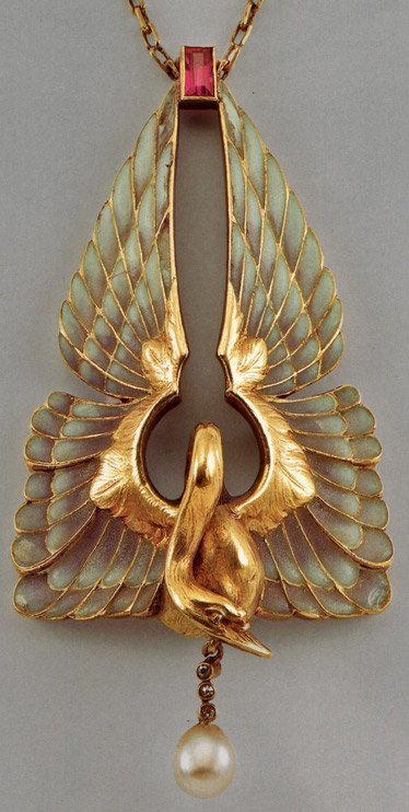Rene-Lalique-gold-bird pendant
