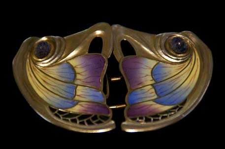 Rene-lalique-brooch in gold and enamel