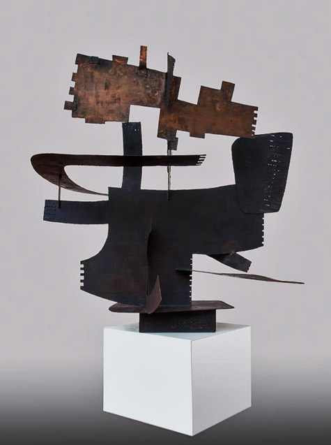 Ritmo-Eroico-II---Museo-Novecento Berto-Lardera-1954 abstract metal sculpture