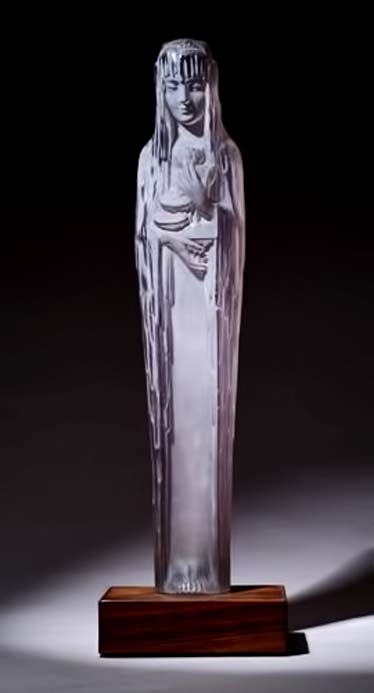Source-De-La-Fountaine-Clytie,-a-rare-LALIQUE-statuette,-circa-1924,-in-clear-and-frosted-glass,-mounted-in-an-original-wood-base