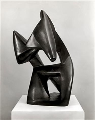 Archipenko-Alexander-  Boxing-1914    modernist sculpture
