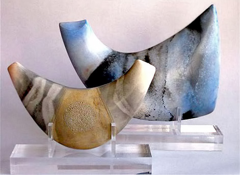 Anne James clay abstract forms