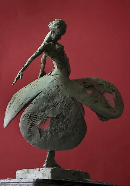 Carol-Peace female ceramic figurie