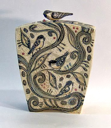 Found-on-cmckay.kilnhorse.com Christine McKay Lidded chick a dee pot