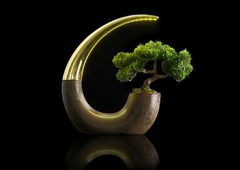 lamp-planter -  Green Lantern by Nudelab