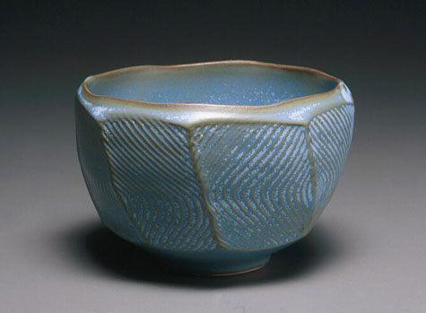 Hank-Murrow--ceramic-faceted-bowl