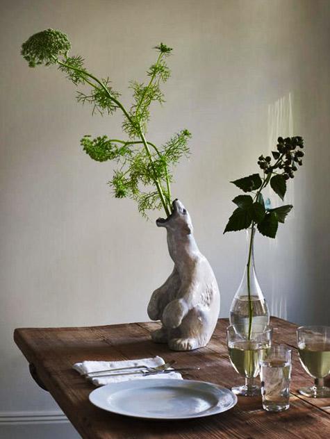 Mats Gustafson,-Stockholm polar bear vase
