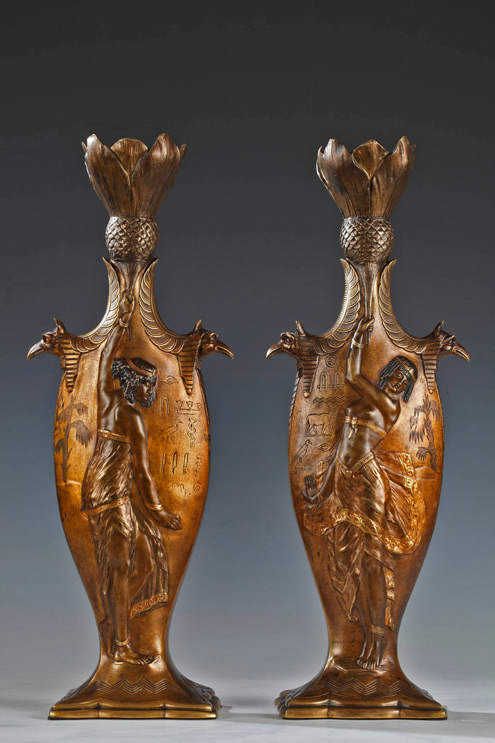 Charles-Louchet-Pair-of-'Egyptian-Dancers'-Vases
