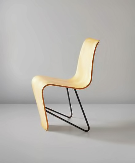 Early 'Bellevue' side chair, from the Maison de Bellevue, Meudon, Paris, 1951 design Andre Bloc