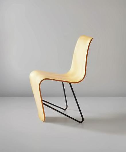 Early 'Bellevue' side chair, from the Maison de Bellevue, Meudon, Paris, 1951 design Andre Bloc