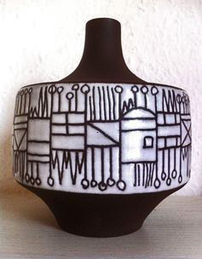 Elly-and-Wilhelm-Kuch-Glazed-Ceramic-Vase,-1960s