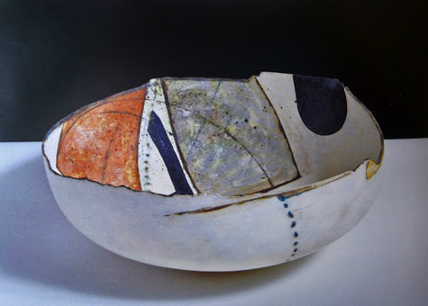 Painting-in-the-Form-of-a-Bowl,-1981,--(stoneware)