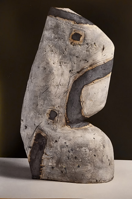 Vessel-from-the-Belvedere-Series,-1988,--(earthenware) Abstract ceramics by Gordon Baldwin