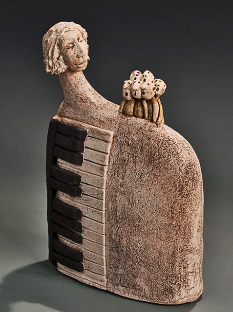 Roelna Louw -  accompanist - ceramic abstract sculpture