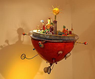 Juliana Bollini flying space vehicle figurine