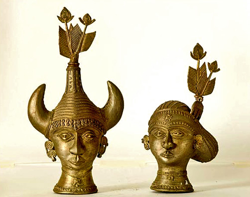 Dhokra head busts from Basta