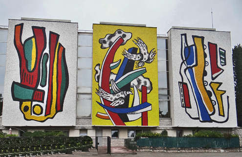 Fernand-Leger-museum France large outdoor mosaic murals