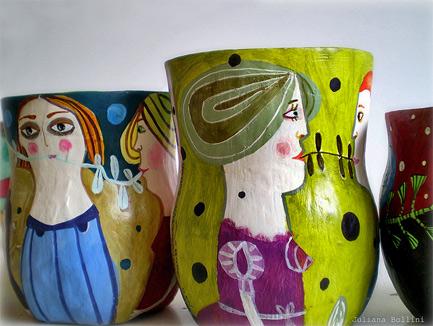 Flickriver--juliana-bollini handpainted vases
