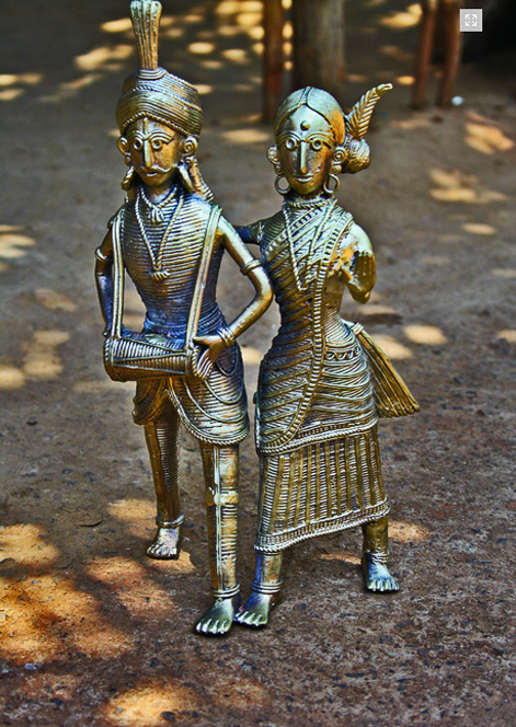 Dhokra art sculptures Advaita