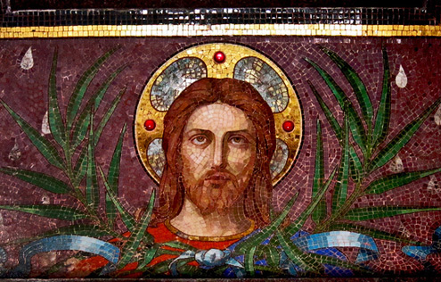 Père-Lachaise-Cemetery-Kay Harpa mosaic of Jesus