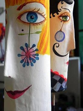 Handpainted figurines-Juliana Bollini from Brazil