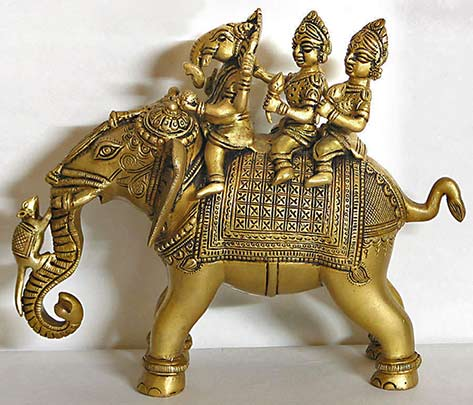 ganesha-riding-elephant-with-two-consorts-riddhi-HK46_l