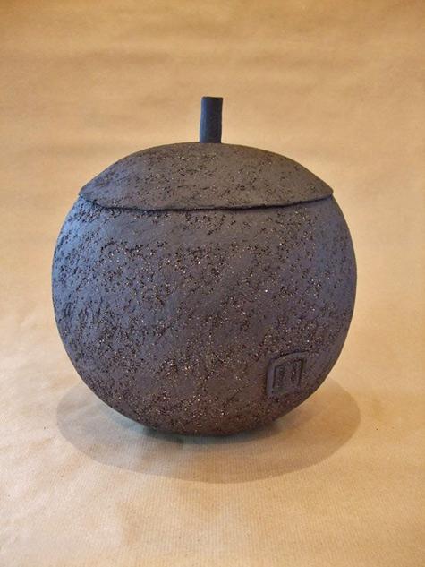 Dany Dufour - lidded vessel with matt glaze