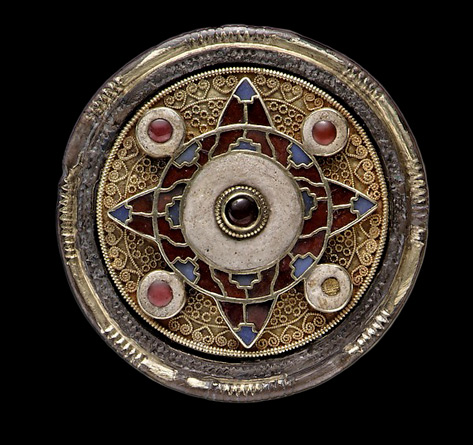 Disk Brooch--early-7th-century Anglo- Saxon made in Faversham