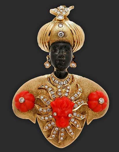 nardi-large-gem-set-onyx-coral-diamond-gold-blackamoor-brooch