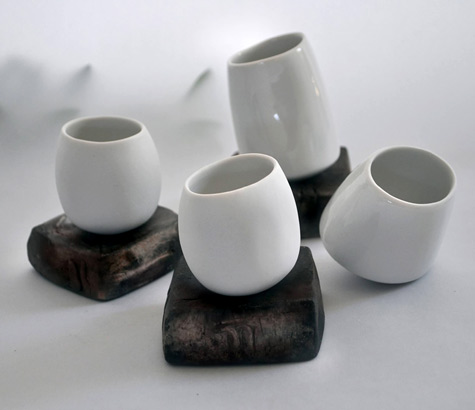 Simone-Krug - abstract white porcelain cups - krug.simone@gmx
