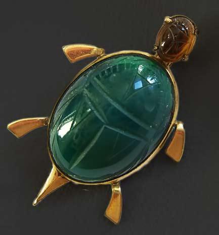 vintage-scarab-brooch-egyptian-revival-turtle