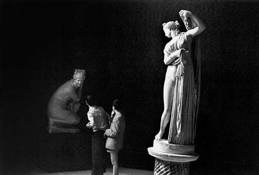 Henri Cartier-Bresson photo at a museum, in Naples LIFE