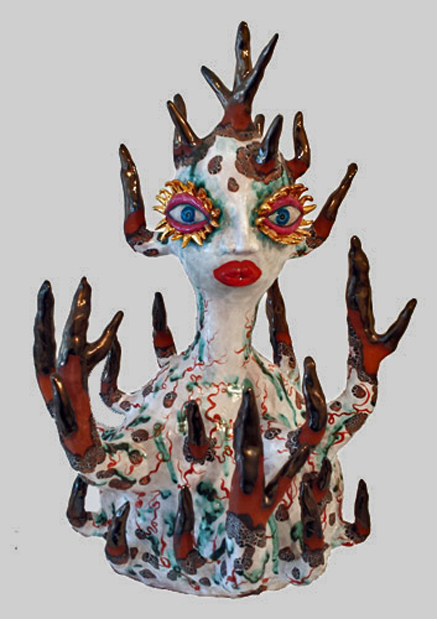 Faithful-Mother--2015 Jenny Orchard ceramics hand painted sculpture