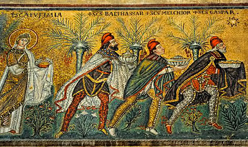 The-Magi- - Basilica of Sant' Apollinare Nuovo, Ravenna by travel photographer Kathryn Burrington