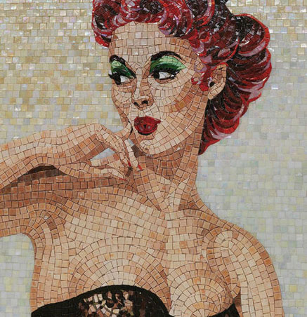 indoor-mosaic-wall-glass-textured-Derby - Pinup-mosaic-collection SICIS Italy