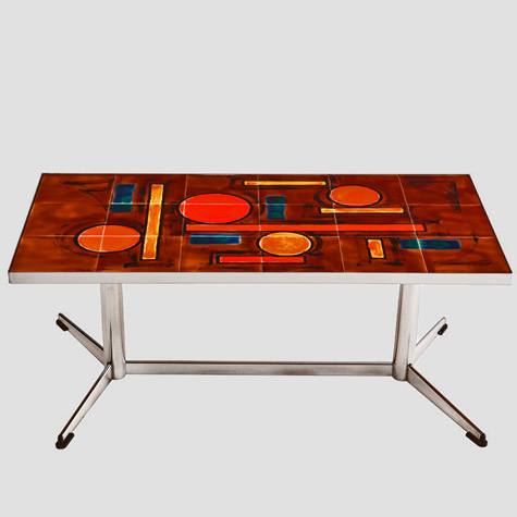French-Ceramic-Art-Tile-and-Chrome-Table-Satyricon