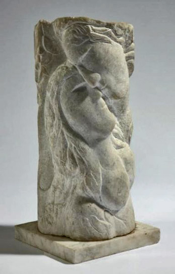 Marc-Chagall stone sculpture - 'Couple'