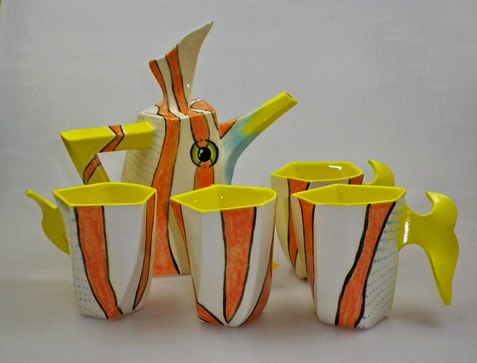 Vintage-Australian-Pottery-Novelty-Coffee-Set
