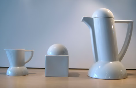 """Contemporary memphis_tea_coffee set Porcelain-1980's-Germany by Lutz Rabold """"City"""" Coffee Service for Arzberg"""