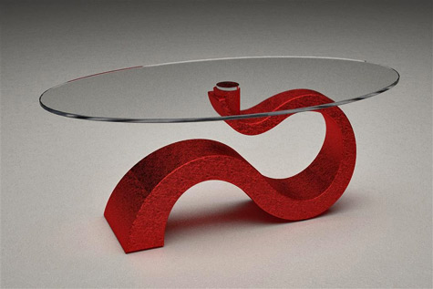 Ophelia-contemporary-glass-top--table-with--pedestal-mineral-stone