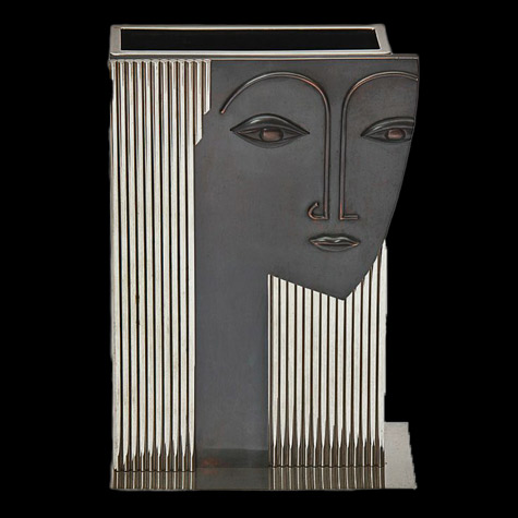 Art-Deco-Umbrella-Stand In the style of Franz Hagenauer - circa 1960s. Can also function as a vase