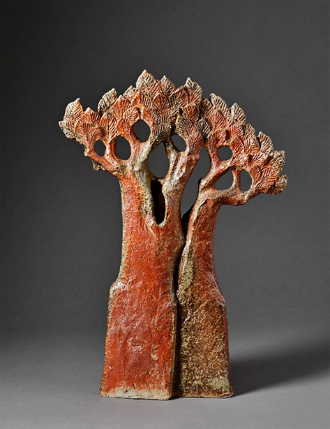 Claude-Gaget - ceramique tree sculpture