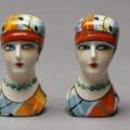 Art Deco ceramic flapper Salt Pepper-shakers