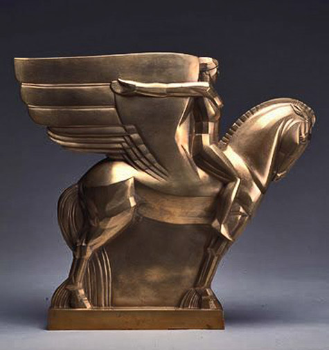 - John Storrs (1885–1956) Study for a Monument to Walt Whitman, ...-1919–1920-Bronze