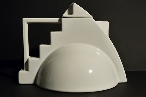 'Memphis'---Art-Deco-Teapot-by-Salins-Studio-France-by-meritandworth on etsy