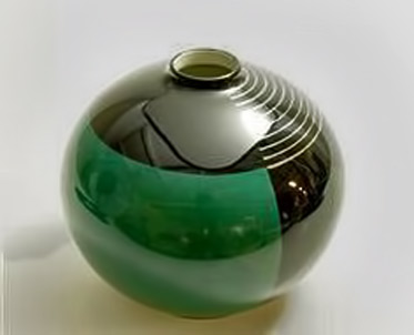 Nora-Gulbrandsen art deco spherical ceramic vessel